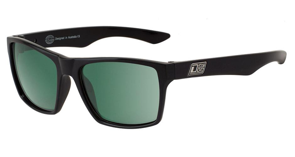 DIRTY DOG Polarised VENDETTA Sunglasses Black Green Polarized 53171