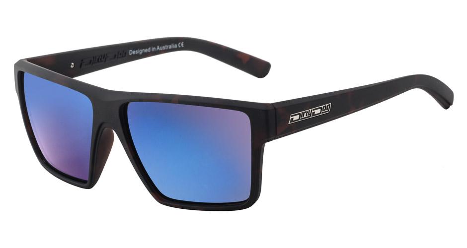 Brown Polarized 53532 Dirty Dog Polarised Bat Sunglasses Satin Tortoise